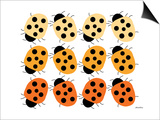 Orange Lady Bug Family Posters by  Avalisa