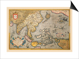 Map of South East Asia Art by Abraham Ortelius