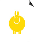 Yellow Donkey Poster by  Avalisa