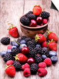 Tasty Summer Fruits On A Wooden Table Art by  boule