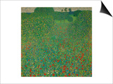 A Field of Poppies, 1907 Print by Gustav Klimt