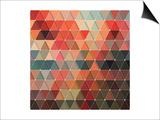Triangles Pattern Prints by Maksim Krasnov