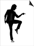 Full Length Silhouette Of A Young Man Dancer Dancing Funky Hip Hop R And B Poster by  OSTILL