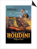 The Literary Digest: Houdini Buried Alive Print