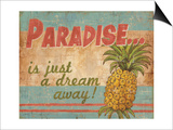 Tropical Paradise Poster by Ted Zorns