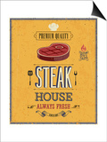 Vintage Steak House Poster Posters by  avean