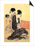 Beauties at Home Prints by Kitagawa Utamaro