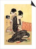 Beauties at Home Prints by Kitagawa Utamaro