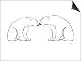 White Polar Bears Prints by  Avalisa