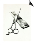 Scissors And Comb Prints by Boyan Dimitrov