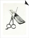 Scissors And Comb Prints by Boyan Dimitrov
