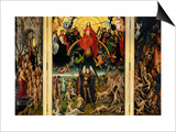 Weighing of the Souls, Triptych of the Last Judgment Posters by Hans Memling