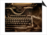Old Rusty Typewriter Print by NejroN Photo