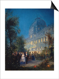 Festival at Night at the Tuileries June 10, 1867 Art by Pierre Tetar Van Elven