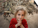 Afghan Refugee Child Looks on in a Neighborhood of Rawalpindi, Pakistan Poster