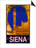 Tower in Siena Italy 2 Posters by Anna Siena