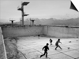 Afghan Boys Play Soccer Prints