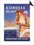Cruise to the North Sea Via Bremen Posters