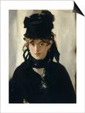 Berthe Morisot au bouquet de violettes Posters by Edouard Manet