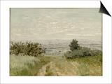 Vue de plaine à Argenteuil, côteaux de Sannois Art by Claude Monet
