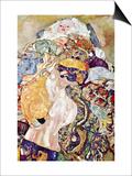 Baby Print by Gustav Klimt