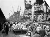 WWII London Docks Poster