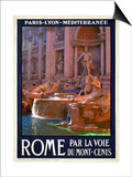 Trevi Fountain, Roma Italy 4 Prints by Anna Siena