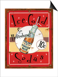 Ice Cold Sodas Poster by Lesley Hallas