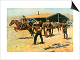 The Coming and Going of the Pony Express Prints by Frederic Sackrider Remington