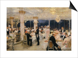 Soiree of the Grand Prix at Armenonville, 1905 Prints by Henri Gervex
