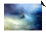 Seascape Storm In The Indian Ocean Prints by  yakimenko