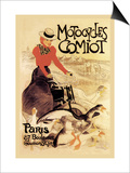 Motorcycles Comiot Prints by Théophile Alexandre Steinlen