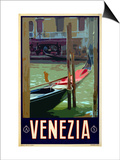 Canal in Venice Italy 3 Prints by Anna Siena