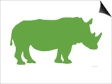 Green Rhino Prints by  Avalisa