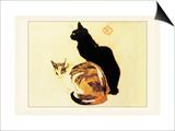 Les Chats Prints by Théophile Alexandre Steinlen