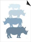 Blue Rhino Prints by  Avalisa