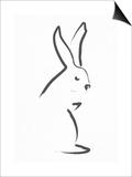 Zen Snow Bunny Posters by Budi Kwan