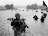 Vietnam War Paratroopers Rain Posters by Henri Huet