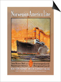 Norwegian-America Cruise Line Print