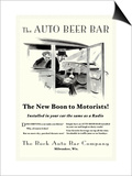 The Auto Beer Bar Print by  Tousey