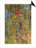 Farmers Garden with Crucifix Posters by Gustav Klimt