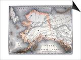 Vintage Map Of Alaska Posters by  Tektite