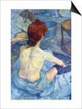Rousse The Toilet Arte por Henri de Toulouse-Lautrec