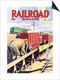 Railroad Magazine: The Circus on the Tracks, 1946 Prints