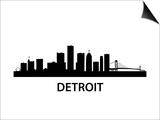 Skyline Detroit Prints by  unkreatives