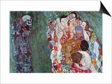 Tod und Leben (Gold) Kunstdrucke von Gustav Klimt