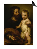 Saint Joseph with Jesus Posters by Bartolome Esteban Murillo