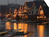 A Portion of Philadelphia's Boathouse Row is Shown at Dusk Thursday Art