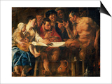 Satyr in Peasant's House Prints by Jacob Jordaens