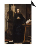Saint Ignatius of Loyola Received the Name of Jesus Poster by Juan de Valdes Leal